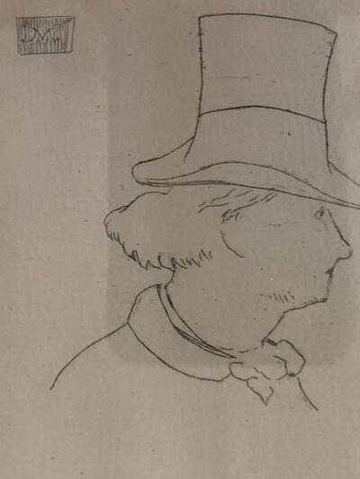 Édouard Manet, 'Profile of Baudelaire', 1862-1869
