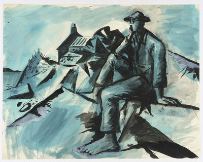 John Craxton, 'Shepherd in a Landscape', ca. 1942