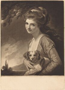 John Raphael Smith after George Romney, 'Lady Hamilton as Nature', published 1784