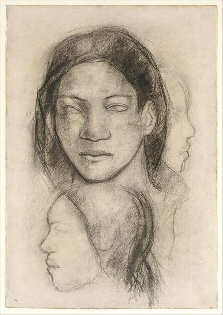 Paul Gauguin, 'Tahitian Faces (Frontal View and Profiles)', ca. 1899