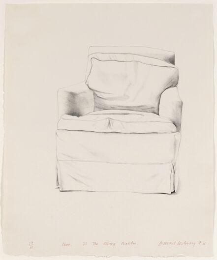 David Hockney, 'Chair, 38 The Colony, Malibu', 1973