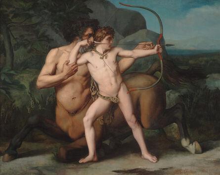 Auguste-Clément Chrétien, 'The Education of Achilles by the Centaur Chiron', 1861