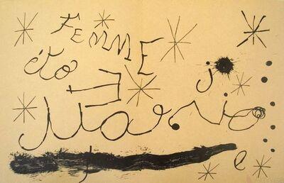 Joan Miró, 'Derriere le Miroir, no. 151-152, pg 18,19', 1965
