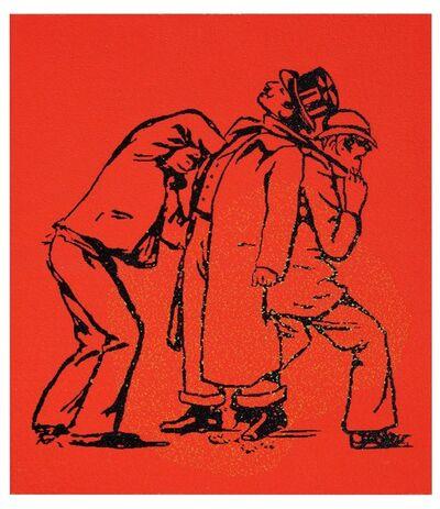 Farhad Moshiri, 'Streetfighter black on red', 2013