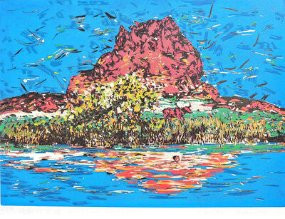 HE KUN, 'Peaceful Pond', 2014