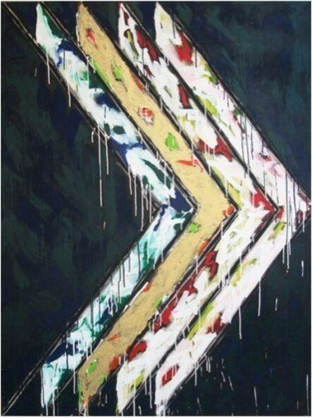 Serge Lemoyne, 'Sans titre (Chevrons)', 1982
