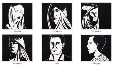 Alex Katz, 'Six Portraits', 2013