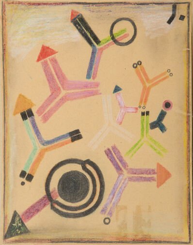 Fritz Levedag, 'Arrows and Rings', 1949