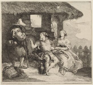 Giovanni Domenico Tiepolo, 'The Marriage of Angelica and Medoro'