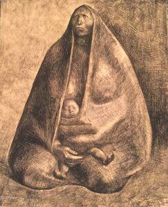Francisco Zúñiga, 'Mujer con Nino', 1982