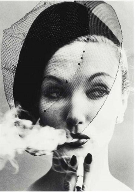 William Klein, 'Smoke + Veil, Paris (Vogue)', 1958-printed later