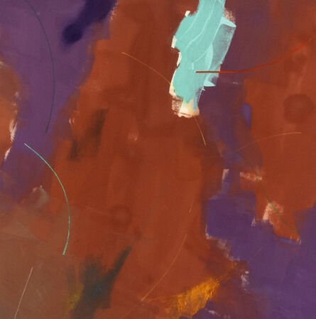 Milly Ristvedt, 'Song for the Lark - large, red, purple, gestural abstract, acrylic on canvas', 1975