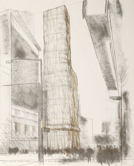 Christo, 'Allied Chemical Tower, Packed, Project for Number 1 Times Square', 1971