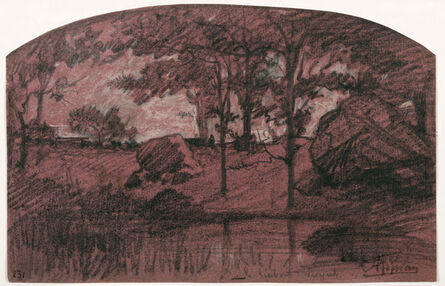 Adolphe Appian, 'A Wooded Landscape.', ca. 1875