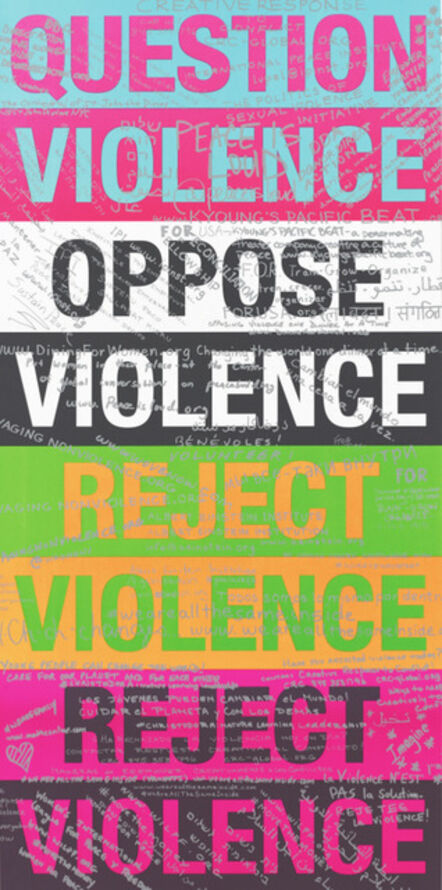 Diana Wege, 'Reject Violence Graffiti', 2016