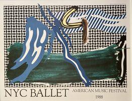 Roy Lichtenstein, 'Roy Lichtenstein, NYC Ballet, American Music Festival', 1988