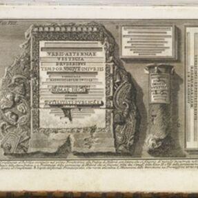 Giovanni Battista Piranesi, 'Complimento al pubblico', 1757