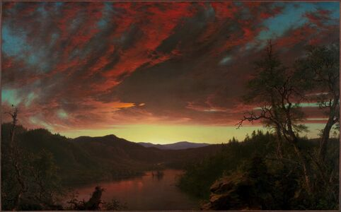 Frederic Edwin Church, 'Twilight in the Wilderness', 1860