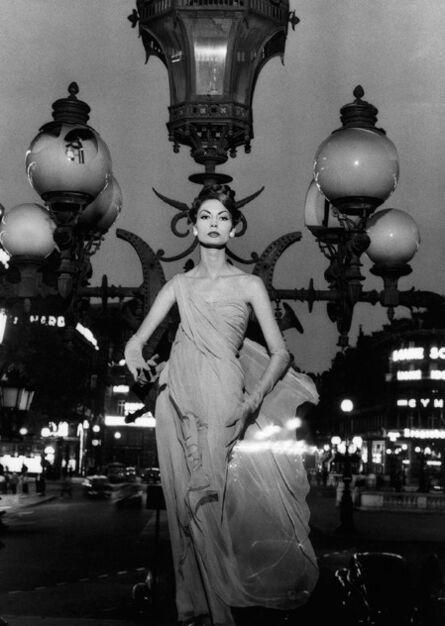 William Klein, 'Mary on lampost, Place de l'Opéra, Paris (Vogue)', 1957