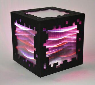 Miguel Chevalier, 'Mini voxels light red', 2015