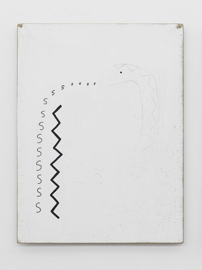 Zin Taylor, 'Thoughts collected on the surface of a panel (snake speaking a pattern)', 2013