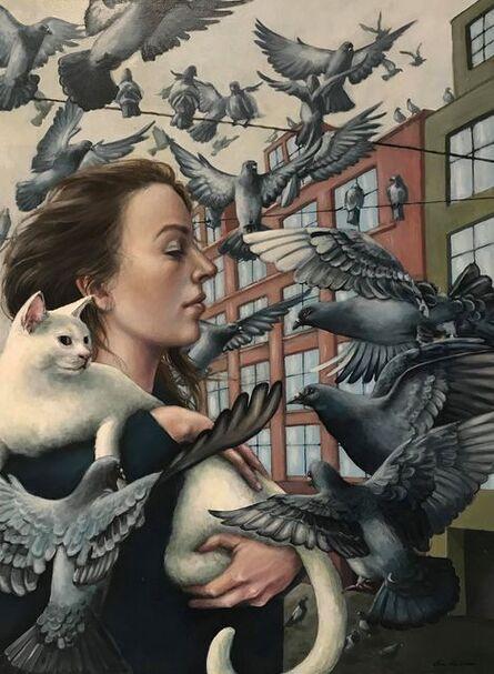 Era Leisner, 'Katt og due', 2020