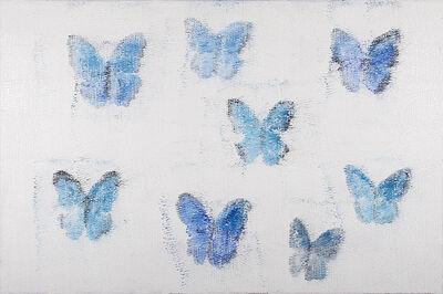 Hunt Slonem, 'Blue Morphos', 2014