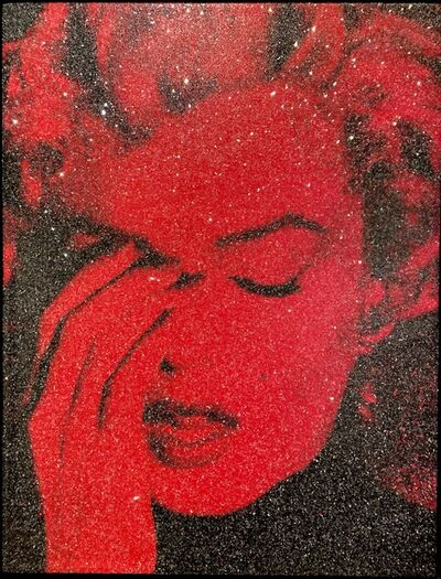 Russell Young, 'Marilyn Crying - Fire Red', 2019