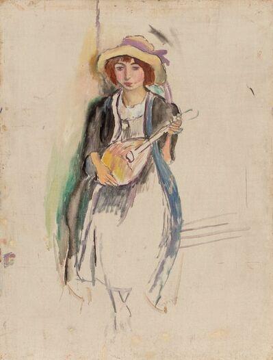 Jules Pascin, 'Fille a la mandoline', 1912