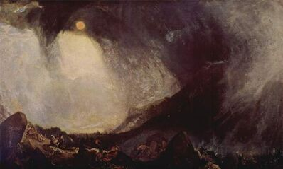 J. M. W. Turner, 'Snowstorm: Hannibal and His Army Crossing the Alps', 1812