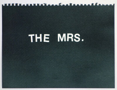 Betty Tompkins, 'The Mrs. (black)'