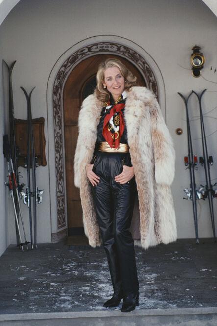 Slim Aarons, 'Klosters Skiing', 1981
