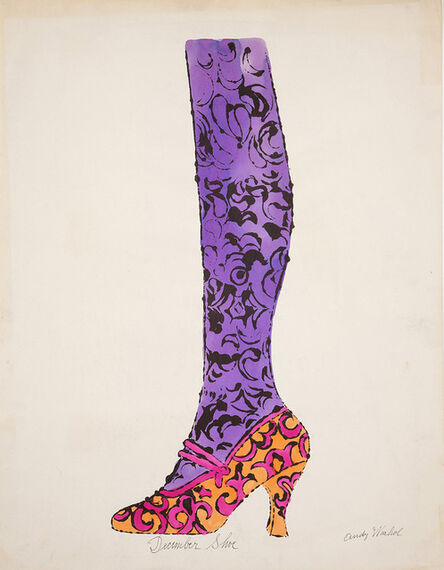 """Andy Warhol, 'Shoe and Leg (""""December Shoe"""")', ca. 1956"""