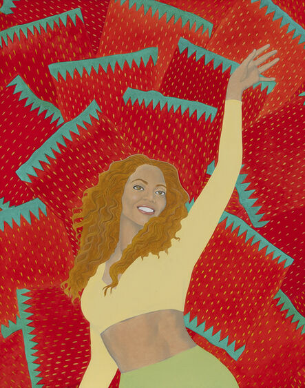Elizabeth Fox, 'Beyonce with Strawberry Candy Wrappers'