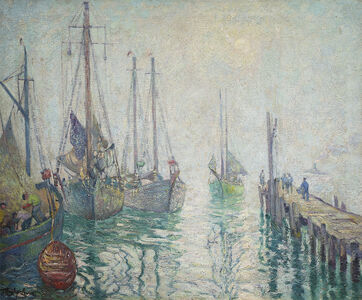 Hayley Lever, 'Fishing Boats, Gloucester', Date unknown.