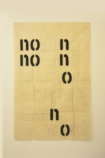 Guillermo Daghero, 'Nothing is more abstract than a word', 2020