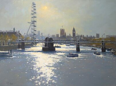 Peter van Breda, 'Sunlight on the Thames'