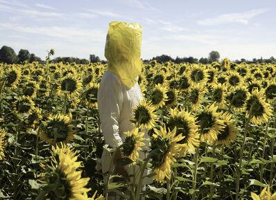Elina Brotherus, 'Portrait Series (Gelbe Musik with Sunflowers)', 2016