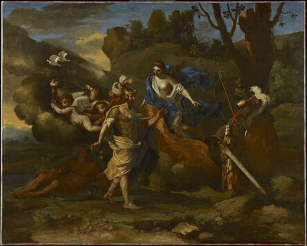 Nicolas Poussin, 'Venus, Mother of Aeneas, Presenting Him with Arms Forged by Vulcan', ca. 1636-1637