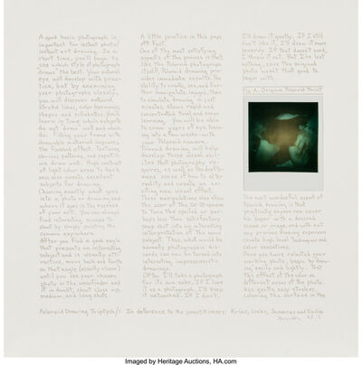 Robert Heinecken, 'Triptych, The Second Apeiron Portfolio (Polaroid Drawing)', 1978