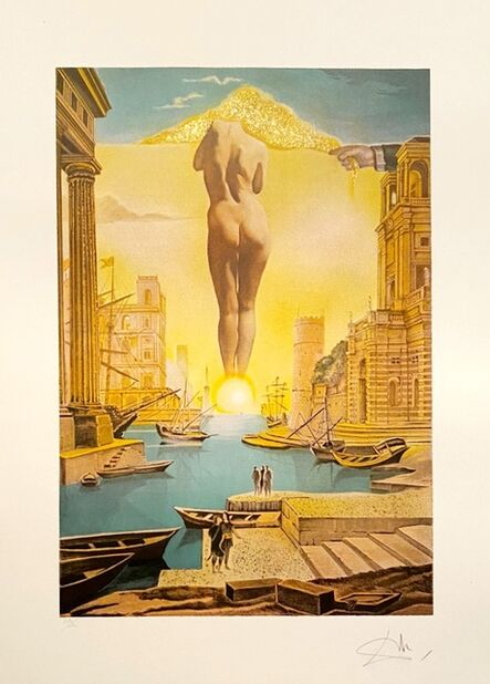 Salvador Dalí, 'La Main de Dali retirant la toison dòr', 1988