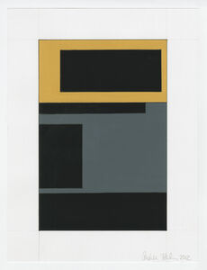 Andrea Zittel, 'Study for A-Z Cover Series 2: Subjective Composition (Gold and Blue Geometric)', 2012