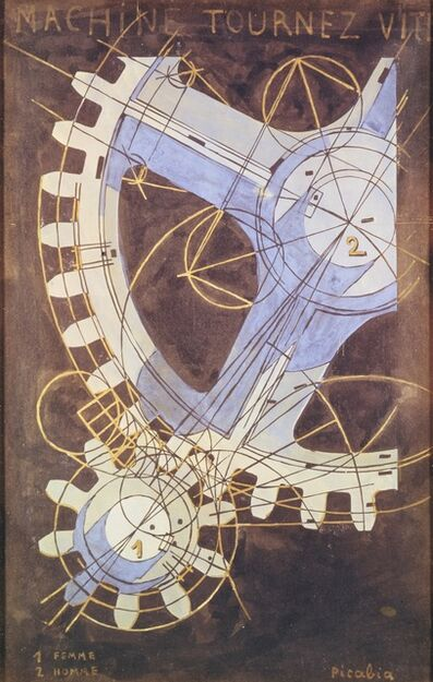Francis Picabia, 'Machines turn quickly', 1916-1918