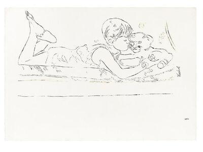 Andy Warhol, 'Boy with Stuffed Tiger', ca. 1957