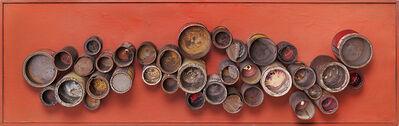 Luis Wells, 'Collage de las latas', 1959