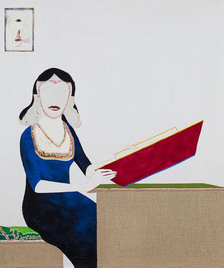 Benny Andrews, 'Portrait of Nene Humphrey (the Artist's Wife) ', 1987