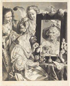 Jeremias Falck after Johann Liss after Bernardo Strozzi, 'An Old Woman at the Toilet Table'