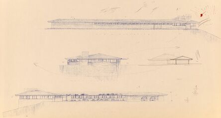 Frank Lloyd Wright, 'Five Plans for the Duey E. Wright House, Wausau, Wisconsin', circa 1958