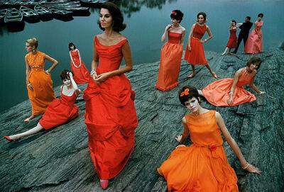 Frank Horvat, 'Glamour, Models in Dresses in Central Park', 1958