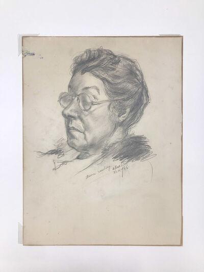 David Burliuk, 'Mama Reading', 1946